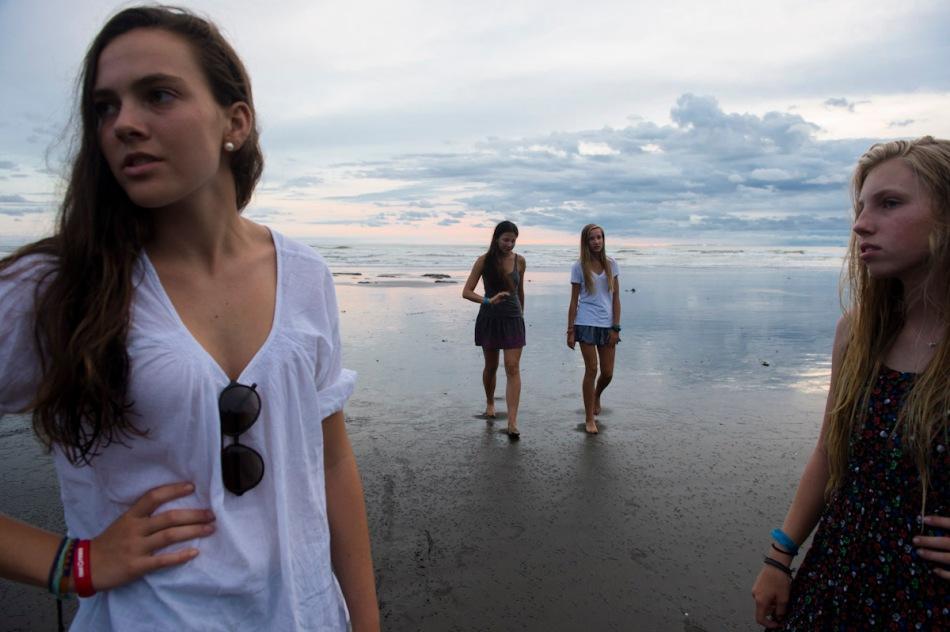 Sunset photo shoot on the beach.